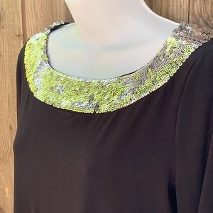 Charter Club Tops - Charter Club Sequin embellished top